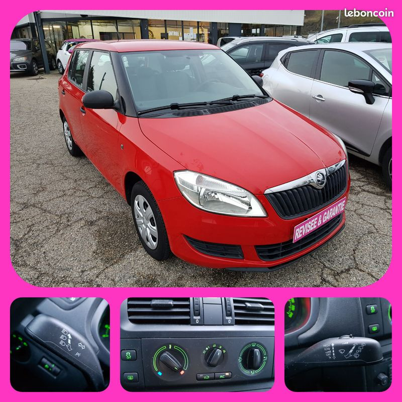 Skoda Fabia 1.2L Essence 59000km Moteur à Chaine de Distribution Finition Active Clim Radio CD Essence ROUGE Occasion à vendre
