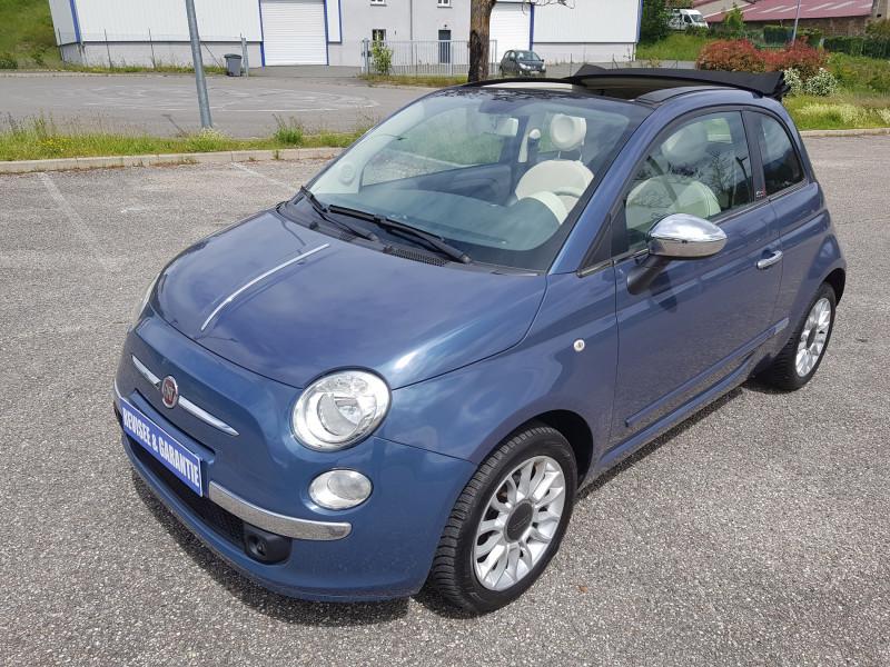 Fiat 500C 1.2L 69cv Cabriolet Pop Star Bluetooth Cuir Intégral Radar de Recul Jante Alu Essence bleu Occasion à vendre