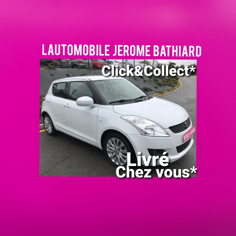 Suzuki Swift 1.2L 94cv VVT Chaîne de Distribution 5Portes Clim Auto Jantes Aluminium Radio CD MP3 Essence blanc Occasion à vendre