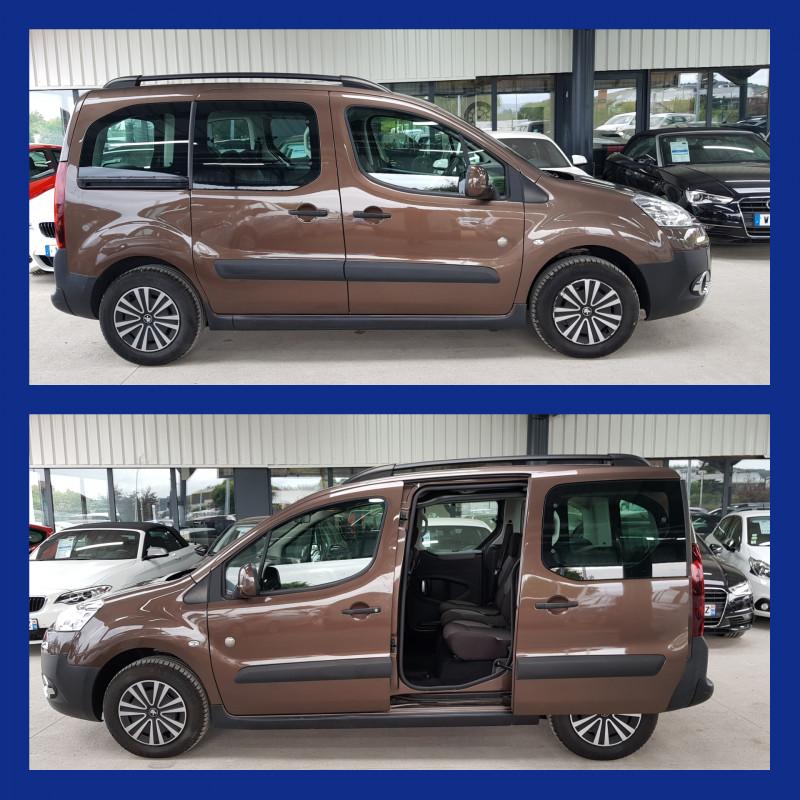 Peugeot Partner Tepee Outdoor 1.6L HDI 115cv Grip Control Clim Auto 2 Portes Latérales Radio CD MP3 Diesel MARRON Occasion à vendre