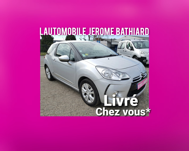Citroen DS3 1.6L HDI 90cv (92cv exactement) So-Chic Radar de Recul Clim Auto J. Alu Radio CD MP3 Diesel gris Occasion à vendre