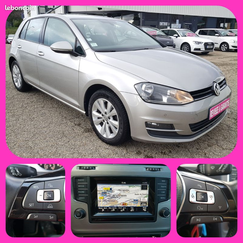 Volkswagen Golf VII 1.6L TDI Confortline 5 Portes 4Motion (4X4) Clim GPS Caméra Bluetooth J. Alu Diesel gris Occasion à vendre