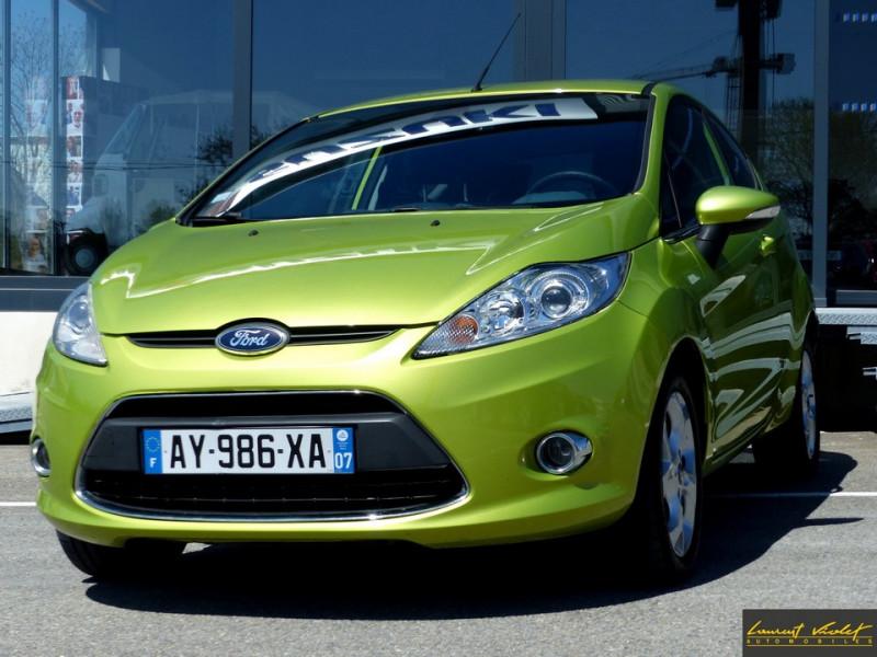 Ford Fiesta VI 1.4 TDCi 70 Titanium Diesel Vert Occasion à vendre