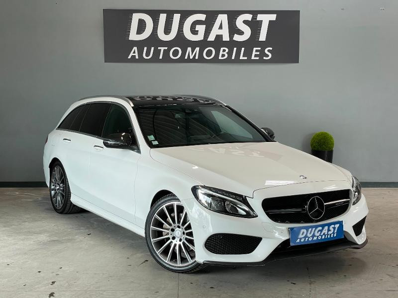 Mercedes-Benz Classe C Break 200 BlueTEC Sportline 7G-Tronic Plus Diesel BLANC Occasion à vendre