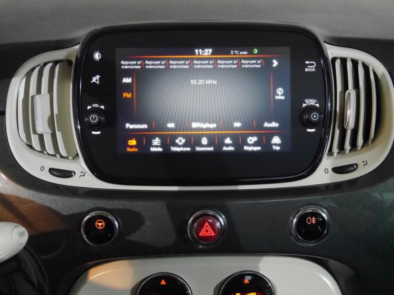 Photo 6 de l'offre de FIAT 500 1.2 8V 69CH S&S LOUNGE  DUALOGIC - 27 % à 13680€ chez Automobiles 25
