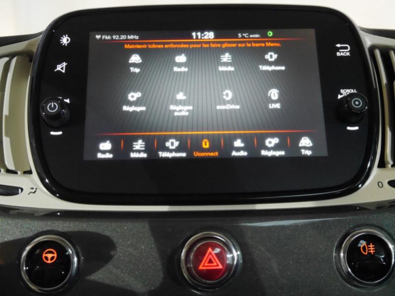 Photo 7 de l'offre de FIAT 500 1.2 8V 69CH S&S LOUNGE  DUALOGIC - 27 % à 13680€ chez Automobiles 25