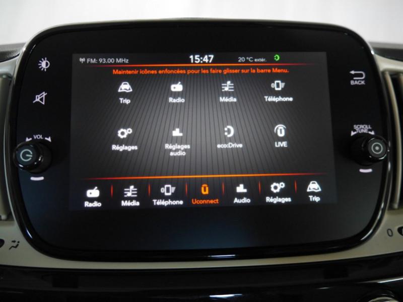 Photo 11 de l'offre de FIAT 500 1.2 8V 69CH ECO PACK  LOUNGE - 26 % à 12995€ chez Automobiles 25