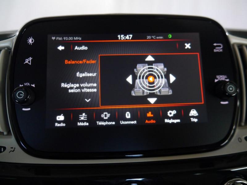 Photo 12 de l'offre de FIAT 500 1.2 8V 69CH ECO PACK  LOUNGE - 26 % à 12995€ chez Automobiles 25