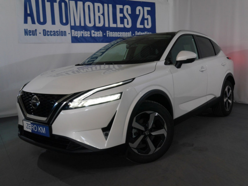 Nissan QASHQAI 1.3 MILD HYBRID 140CV N-CONNECTA - 8 % Hybride BLANC LUNAIRE Neuf à vendre