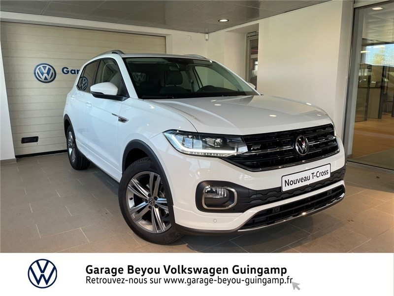 Volkswagen T-CROSS 1.0 TSI 110 START/STOP DSG7 Essence sans plomb Blanc Pur Occasion à vendre