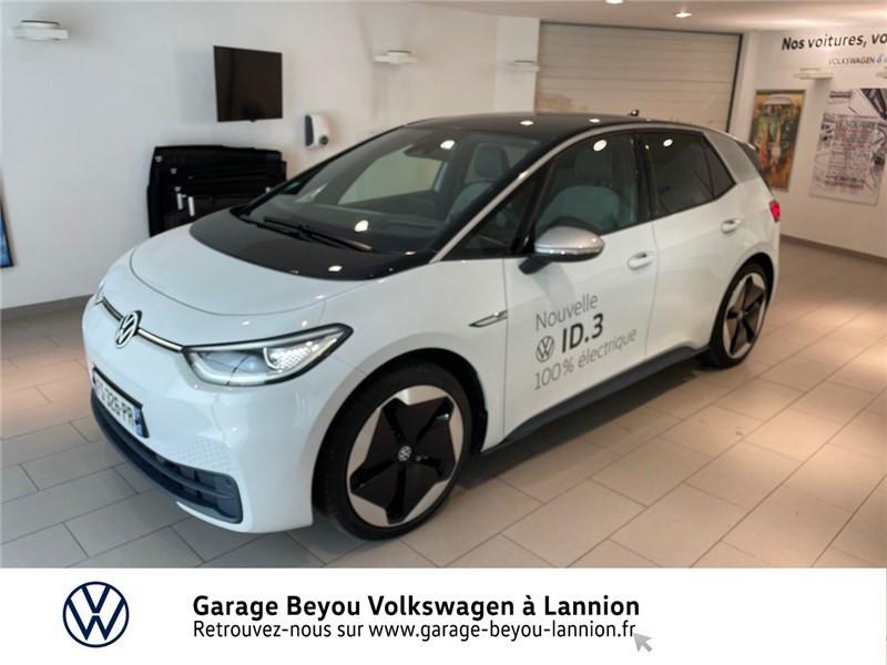 Volkswagen ID.3 204 CH Courant électrique Blanc Glacier toit noir  Occasion à vendre