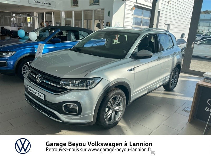 Photo 1 de l'offre de VOLKSWAGEN T-CROSS 1.0 TSI 110 START/STOP DSG7 à 27990€ chez Garage Beyou - Volkswagen Lannion