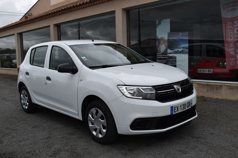 Dacia SANDERO 1.0 SCE 75CH 4CV Essence BLANC Occasion à vendre