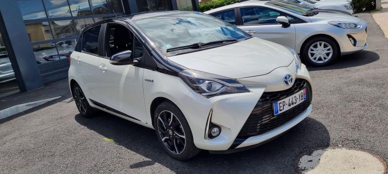 Toyota YARIS 100H COLLECTION 5P Hybride BLANC Occasion à vendre