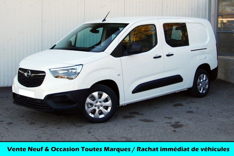 Opel COMBO CARGO L2H1 950KG 1.5 100CH S&S CABINE APPROFONDIE Diesel BLANC Neuf à vendre