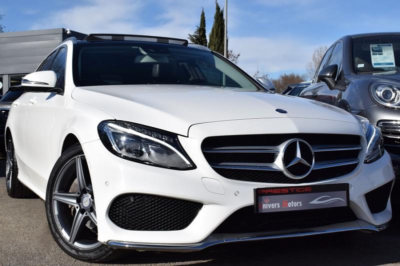 Mercedes-Benz CLASSE C BREAK (S205) 200 D 2.2 FASCINATION 7G-TRONIC PLUS Diesel BLANC Occasion à vendre