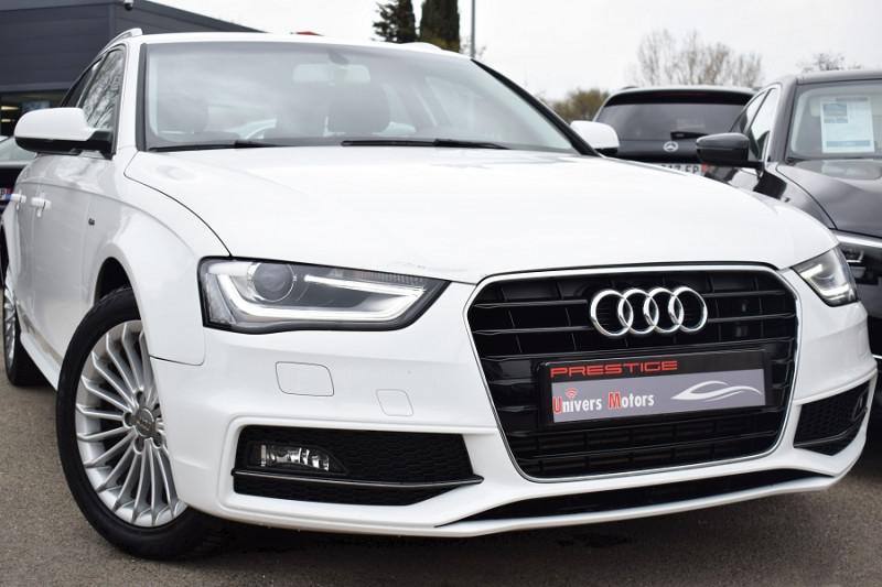 Audi A4 AVANT 2.0 TDI 150CH S LINE MULTITRONIC EURO6 Diesel BLANC Occasion à vendre