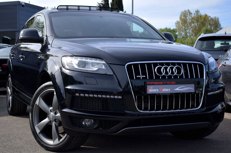 Audi Q7 3.0 V6 TDI 245CH FAP S LINE QUATTRO TIPTRONIC 7 PLACES Diesel NOIR Occasion à vendre