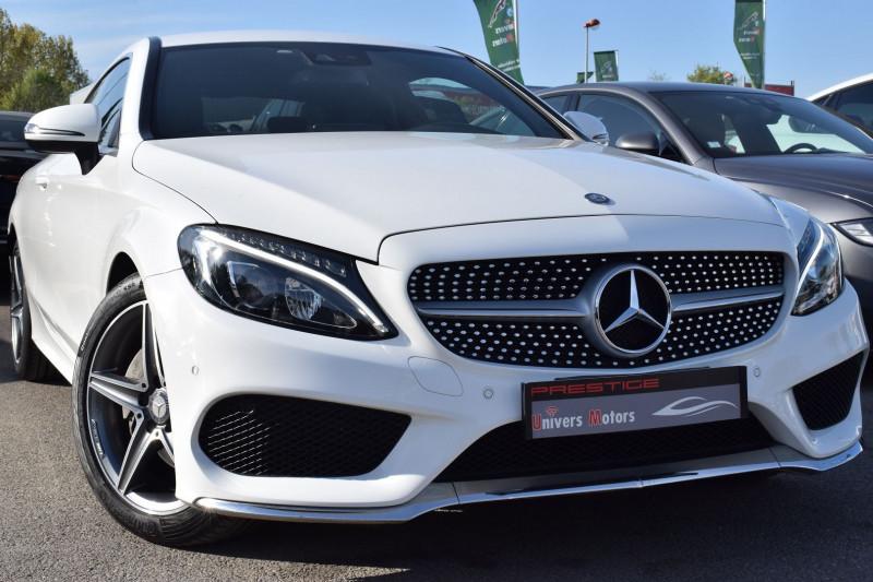 Mercedes-Benz CLASSE C COUPE (C205) 220 D 170CH SPORTLINE 9G-TRONIC Diesel BLANC Occasion à vendre