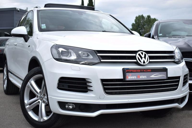 Volkswagen TOUAREG 3.0 V6 TDI 245CH BLUEMOTION FAP R LINE EDITION 4MOTION TIPTRONIC Diesel BLANC Occasion à vendre