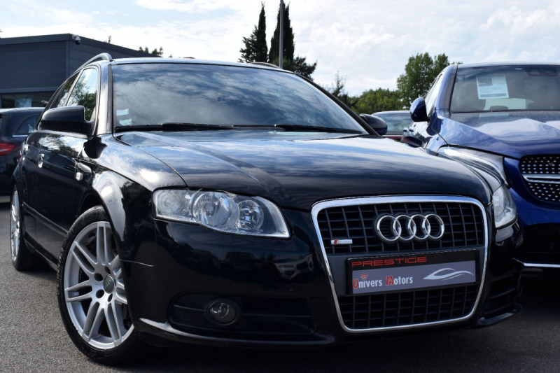 Audi A4 AVANT 2.0 TDI 140CH S LINE Diesel NOIR Occasion à vendre