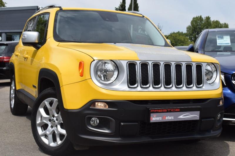 Jeep RENEGADE 1.6 MULTIJET S&S 120CH LIMITED Diesel JAUNE Occasion à vendre