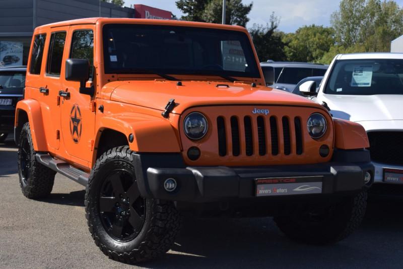 Jeep WRANGLER 2.8 CRD 200 UNLIMITED SAHARA BVA Diesel ORANGE Occasion à vendre