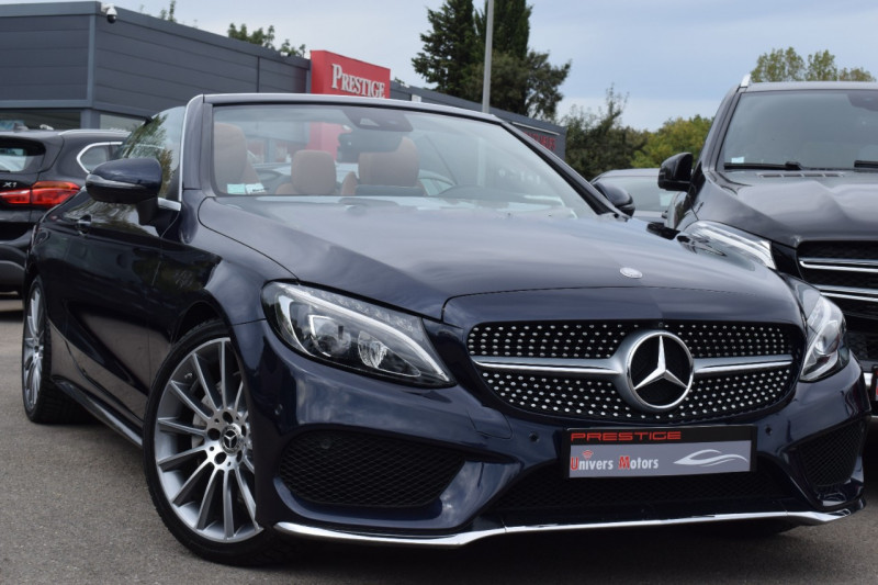 Mercedes-Benz CLASSE C CABRIOLET 220 D 170CH SPORTLINE 9G-TRONIC Diesel BLEU FONCE Occasion à vendre