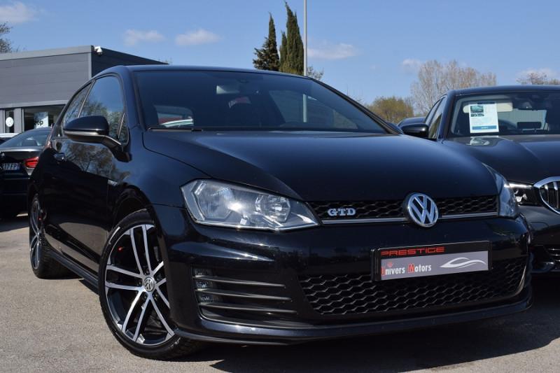 Volkswagen GOLF VII 2.0 TDI 184CH BLUEMOTION TECHNOLOGY FAP GTD 3P Diesel NOIR Occasion à vendre
