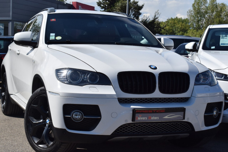Bmw X6 (E71) XDRIVE40DA 306CH EXCLUSIVE 5places Diesel BLANC Occasion à vendre