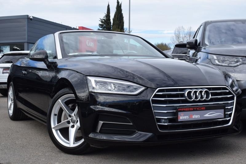 Audi A5 CABRIOLET 2.0 TDI 190CH DESIGN LUXE QUATTRO S TRONIC 7 Diesel NOIR Occasion à vendre
