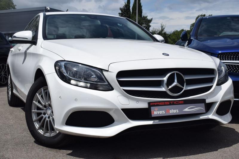 Mercedes-Benz CLASSE C (W205) 200 D 2.2 BUSINESS 7G-TRONIC PLUS Diesel BLANC Occasion à vendre