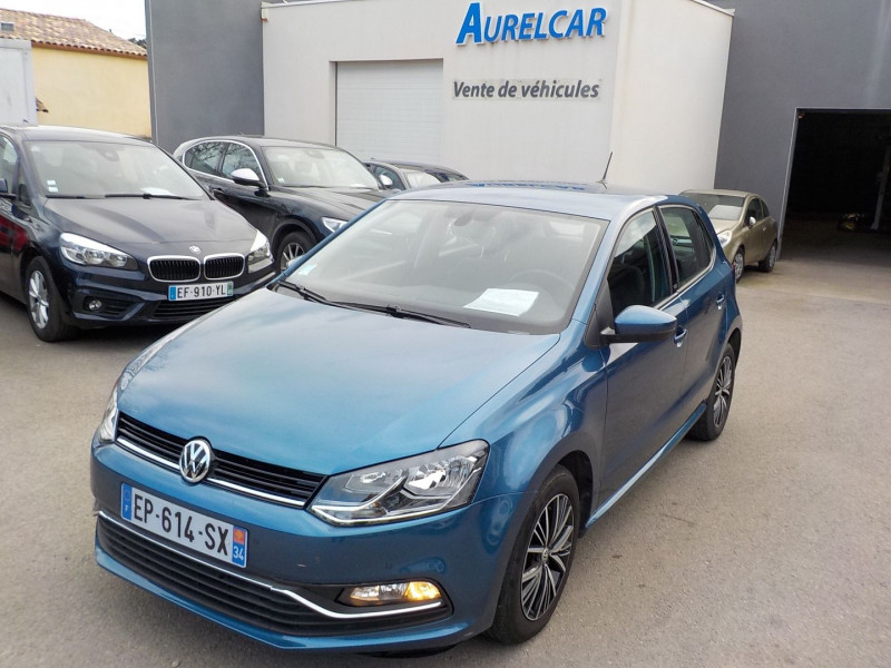 Volkswagen POLO 1.4 TDI 90CH BLUEMOTION TECHNOLOGY CONFORTLINE BUSINESS DSG7 5P Diesel BLEU Occasion à vendre