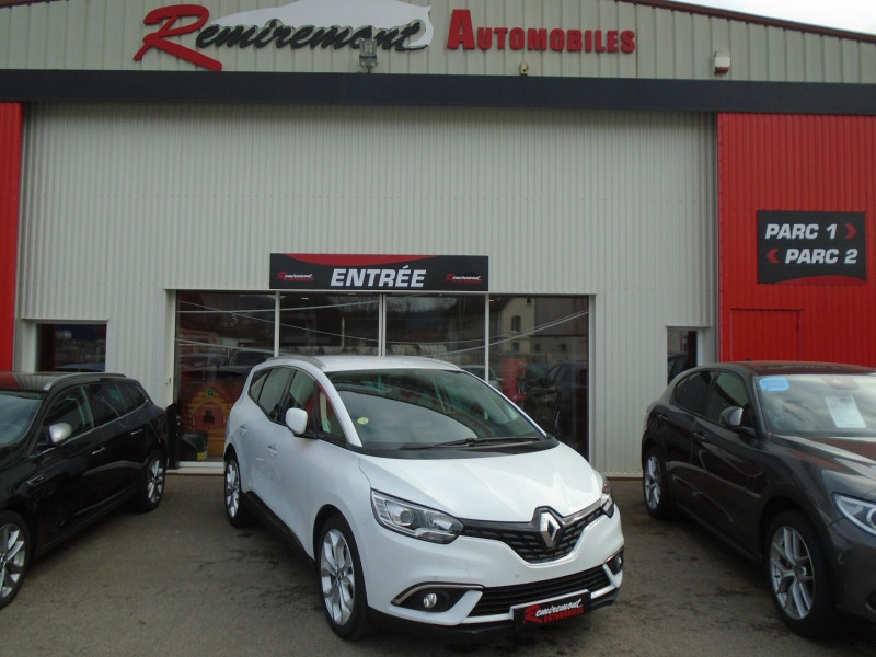 Renault GRAND SCENIC IV 1.5 DCI 110CH HYBRID ASSIST BUSINESS 7 PLACES Diesel BLANC Occasion à vendre
