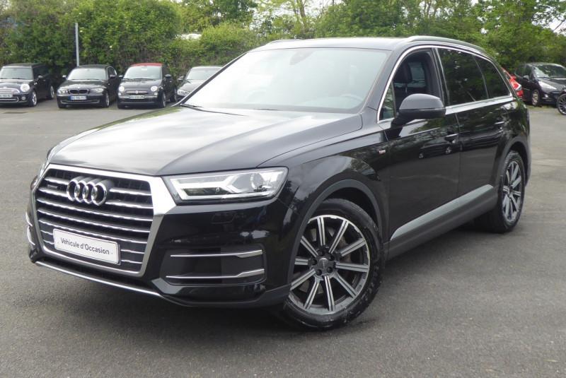Audi Q7 3.0 V6 TDI 272CH CLEAN DIESEL S LINE QUATTRO TIPTRONIC 7 PLACES Diesel NOIR Occasion à vendre