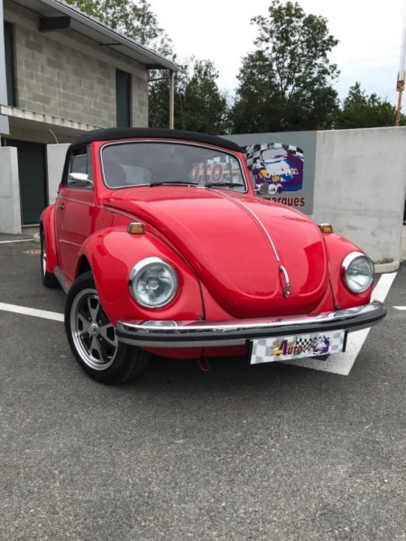 Volkswagen COCCINELLE CABRIOLET 1300 Essence ROUGE Occasion à vendre