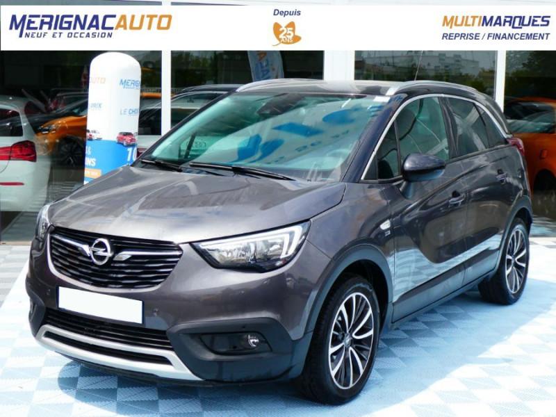 Opel CROSSLAND X 1.2 Turbo 110 BV6 DESIGN 120ans JA17 Caméra Radars Pack Modularité ESSENCE GRIS PIERRE DE LUNE TOIT NOIR Occasion à vendre