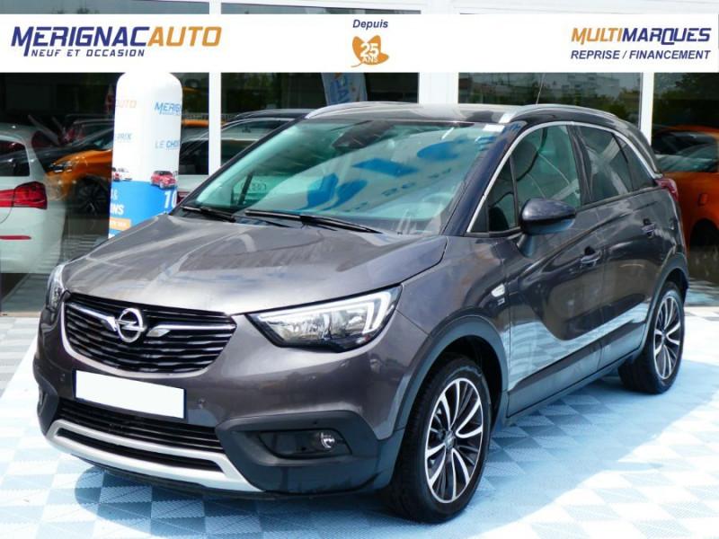 Opel CROSSLAND X 1.2 Turbo 110 BVA6 DESIGN 120ans JA17 Caméra Radars Pack Modularité ESSENCE GRIS PIERRE DE LUNE TOIT NOIR Occasion à vendre