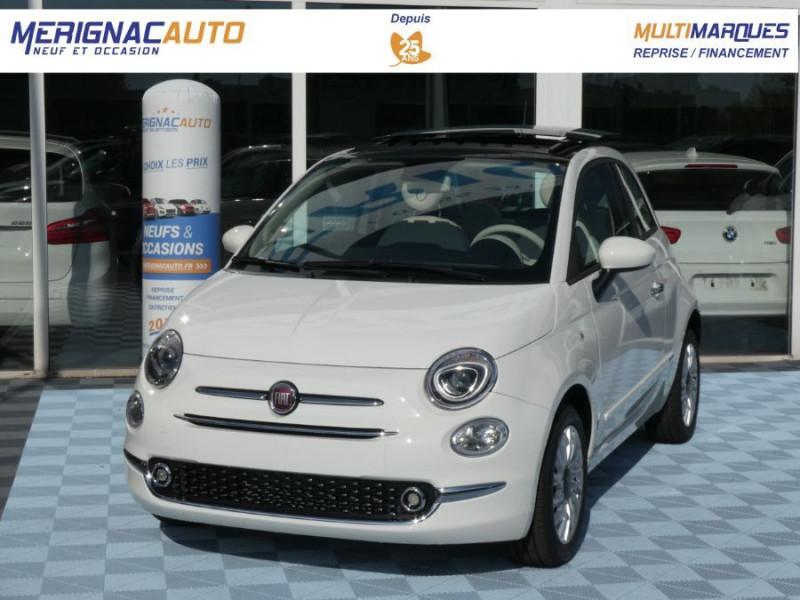 Fiat 500 1.0 70 BSG Hybrid BV6 LOUNGE TOIT OUVRANT GPS (10 Options) HYBRIDE ESSENCE BLANC GELATO Neuf à vendre