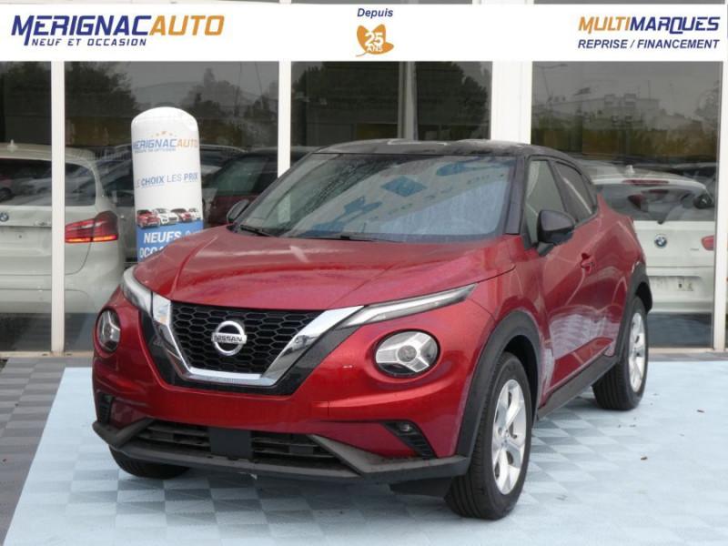 Nissan JUKE II Nouveau 1.0 DIG-T 117 DCT7 N-CONNECTA GPS SC Bi-Ton ESSENCE ROUGE FUJI NACRE / TOIT NOIR Neuf à vendre