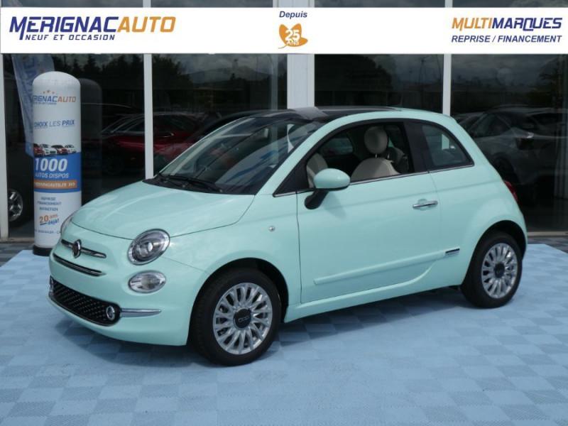 Fiat 500 1.0 70 BSG Hybrid BV6 LOUNGE Toit Pano GPS (10 Options) HYBRIDE ESSENCE VERT MEENT Neuf à vendre