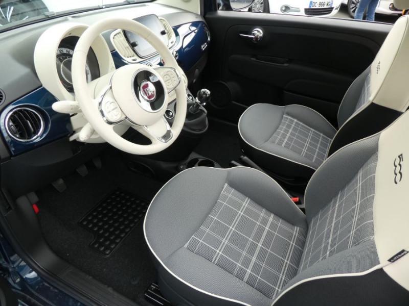 Photo 5 de l'offre de FIAT 500 1.2 69 Dualogic PACK LOUNGE TOIT Pano GPS (10 Options) à 14390€ chez Mérignac auto
