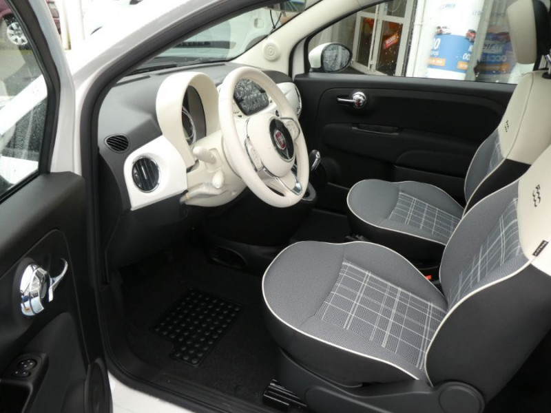 Photo 5 de l'offre de FIAT 500 1.2 69 Dualogic PACK LOUNGE TOIT Pano GPS (10 Options) à 14390€ chez Mérignac auto