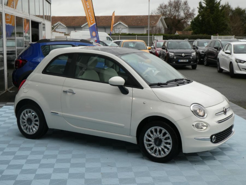 Photo 2 de l'offre de FIAT 500 1.2 69 Dualogic PACK LOUNGE TOIT Pano GPS (10 Options) à 14390€ chez Mérignac auto