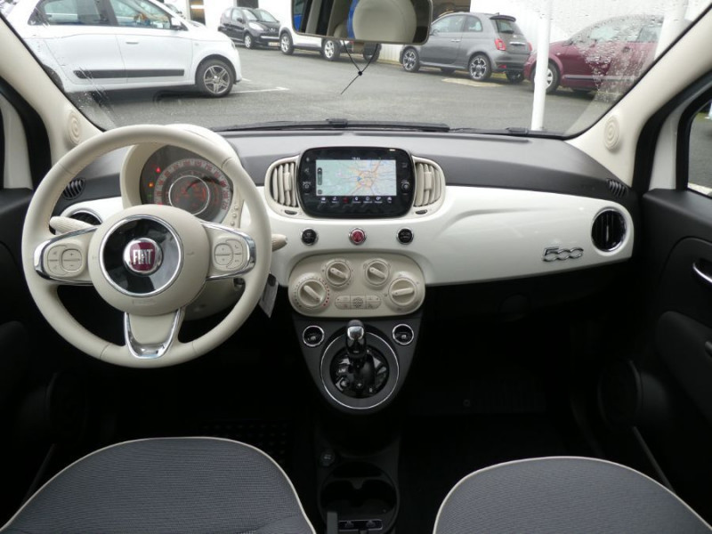 Photo 7 de l'offre de FIAT 500 1.2 69 Dualogic PACK LOUNGE TOIT Pano GPS (10 Options) à 14390€ chez Mérignac auto