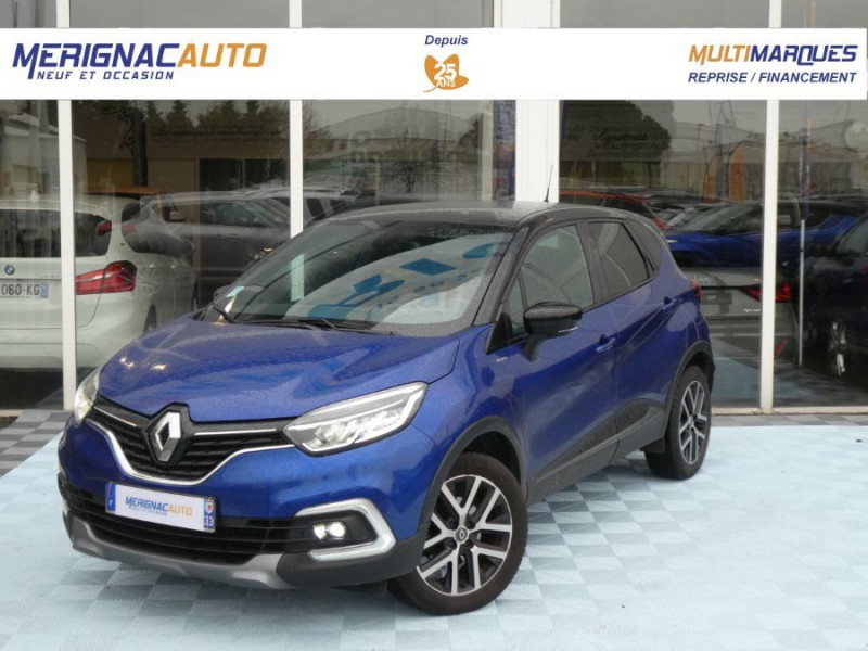 Renault CAPTUR 1.3 TCE 150 EDC S-EDITION Camera Park Assist 1ère Main ESSENCE BLEU METAL TOIT NOIR Occasion à vendre