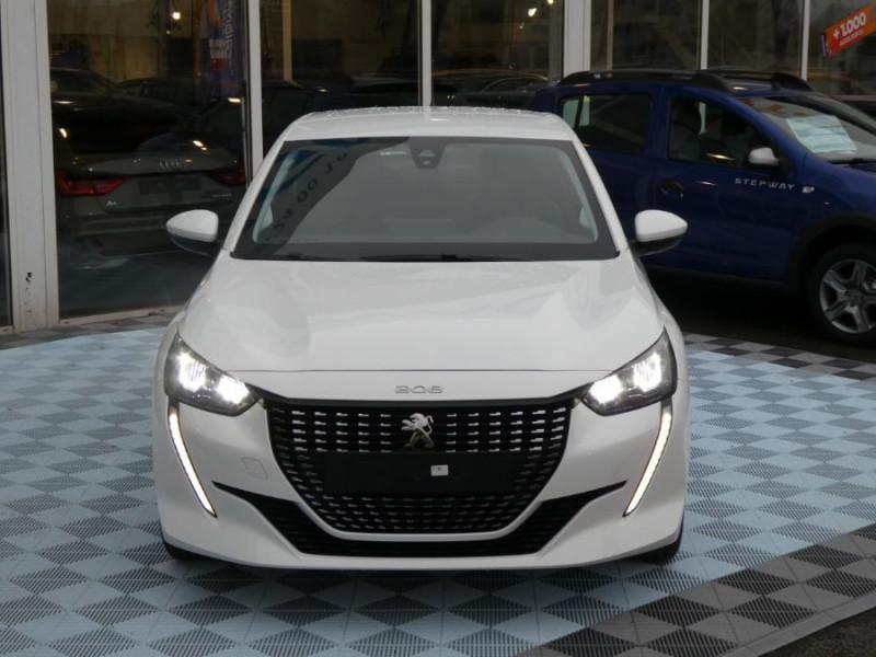 """Peugeot 208 1.5 BlueHDi 100 BV6 ACTIVE Mirror 7"""" LED DIESEL BLANC BANQUISE Neuf à vendre"""