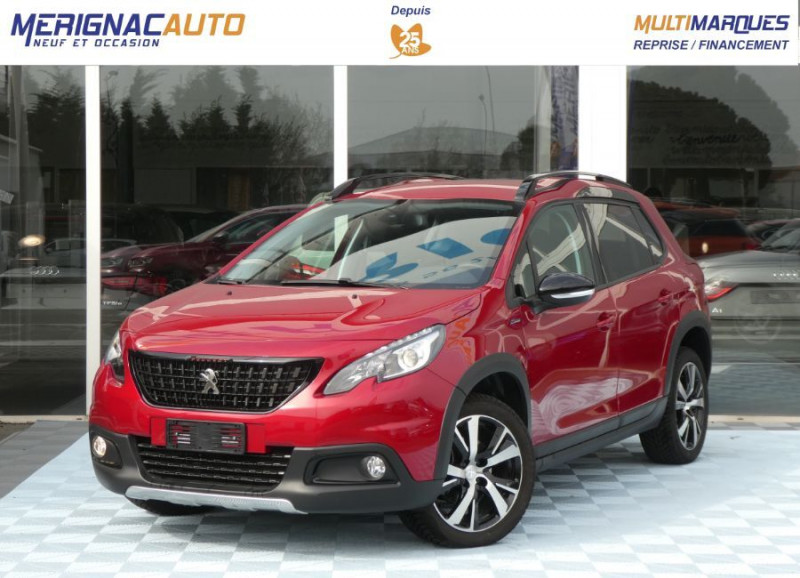 Peugeot 2008 II BlueHDi 120 EAT6 GT LINE Camera Grip Control DIESEL ROUGE ULTIMATE NACRE Occasion à vendre
