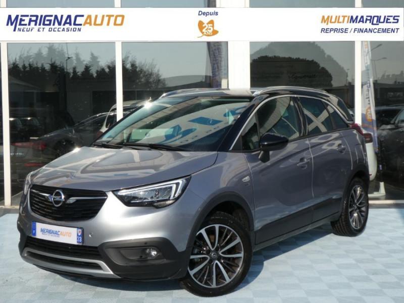Opel CROSSLAND X 1.2 Turbo 130 BVA6 DESIGN 120ans JA17 Caméra Radars ESSENCE GRIS QUARTZ TOIT NOIR Occasion à vendre