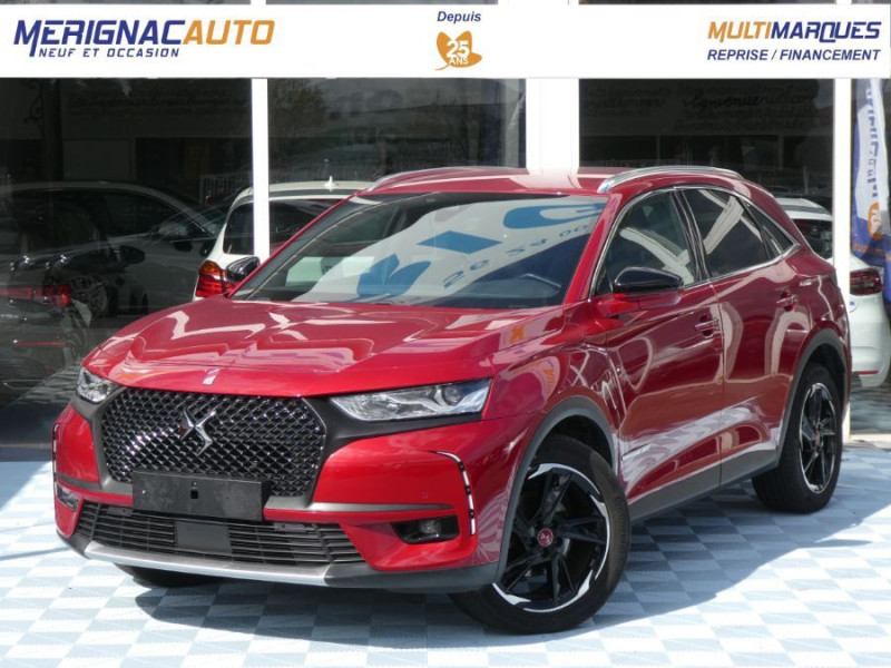 Ds DS7 CROSSBACK BlueHDi 180 EAT8 PERFORMANCE LINE Caméra Hayon Easy DIESEL ROUGE INTENS MÉTAL Occasion à vendre